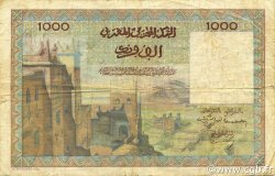 1000 Francs type 1951 MAROC  1952 P.47 TB+