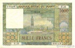 1000 Francs type 1951 MAROC  1956 P.47 SUP+