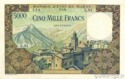 5000 Francs type 1951 MAROC  1953 P.49 pr.SUP