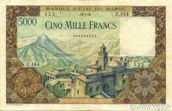 5000 Francs type 1951 MAROC  1953 P.49 TTB