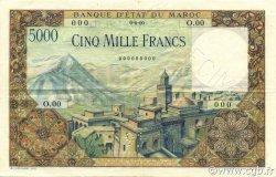 5000 Francs type 1951 MAROC  1951 P.49s pr.SUP