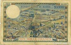 10000 Francs type 1953 MAROC  1954 P.50 B+