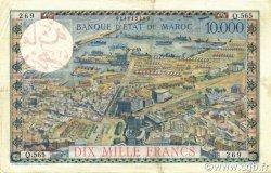 100 Dirhams sur 10000 Francs MAROC  1959 P.52 pr.SUP