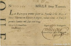 1000 Livres Tournois typographié FRANCE  1720 Laf.091x TTB