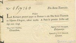 10 Livres Tournois typographié FRANCE  1720 Laf.093 SUP