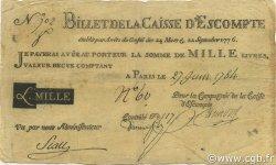 1000 Livres FRANCE  1784 Laf.102x pr.TTB