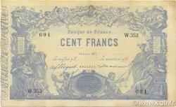 100 Francs indices noirs FRANCE  1871 F.A39.07 TTB à SUP