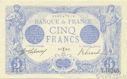 5 Francs BLEU FRANCE  1916 F.02.36 SPL
