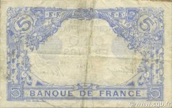 5 Francs BLEU lion inversé FRANCE  1917 F.02bis.04 TB+