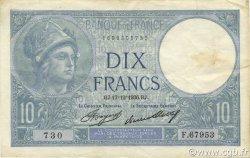 10 Francs MINERVE FRANCE  1936 F.06.17 SUP