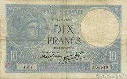 10 Francs MINERVE modifié FRANCE  1942 F.07.31 TB