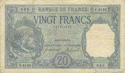 20 Francs BAYARD FRANCE  1918 F.11.03 TB+