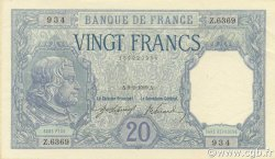 20 Francs BAYARD FRANCE  1919 F.11.04 SUP à SPL