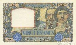20 Francs SCIENCE ET TRAVAIL FRANCE  1941 F.12.14 NEUF