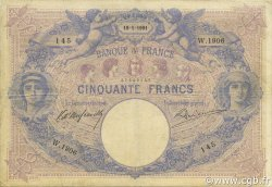 50 Francs BLEU ET ROSE FRANCE  1901 F.14.13 TB+