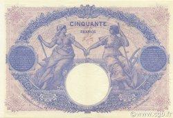 50 Francs BLEU ET ROSE FRANCE  1917 F.14.30 SUP+