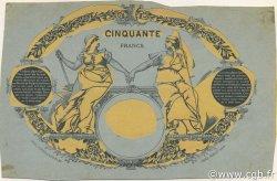 50 Francs BLEU ET ROSE FRANCE  1890 F.14.00 SUP
