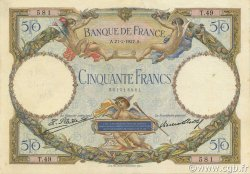 50 Francs LUC OLIVIER MERSON FRANCE  1927 F.15.01 TTB+