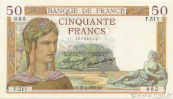 50 Francs CÉRÈS FRANCE  1935 F.17.04 SUP+
