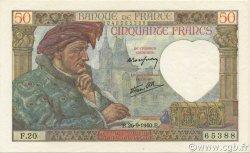 50 Francs JACQUES CŒUR FRANCE  1940 F.19.03 SPL+