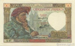 50 Francs JACQUES CŒUR FRANCE  1941 F.19.07 pr.SPL