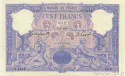100 Francs BLEU ET ROSE FRANCE  1906 F.21.20 TTB+