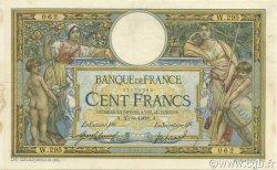 100 Francs LUC OLIVIER MERSON avec LOM FRANCE  1908 F.22.01 TB à TTB