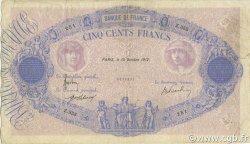 500 Francs BLEU ET ROSE FRANCE  1912 F.30.20 TB