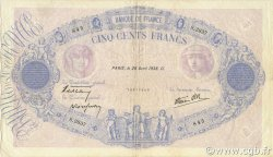 500 Francs BLEU ET ROSE modifié FRANCE  1938 F.31.09 TTB+