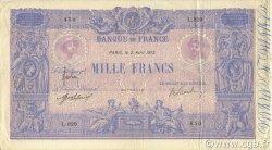1000 Francs BLEU ET ROSE FRANCE  1913 F.36.27 TTB+
