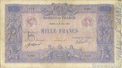 1000 Francs BLEU ET ROSE FRANCE  1914 F.36.28 B à TB