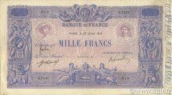 1000 Francs BLEU ET ROSE FRANCE  1918 F.36.32 TB à TTB