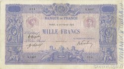 1000 Francs BLEU ET ROSE FRANCE  1920 F.36.35 TTB