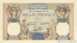 1000 Francs CÉRÈS ET MERCURE type modifié FRANCE  1939 F.38.36 NEUF