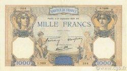 1000 Francs CÉRÈS ET MERCURE type modifié FRANCE  1939 F.38.37 SPL