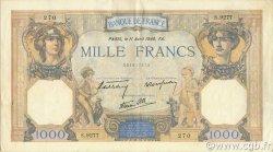 1000 Francs CÉRÈS ET MERCURE type modifié FRANCE  1940 F.38.45 SUP