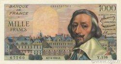 1000 Francs RICHELIEU FRANCE  1955 F.42.12 NEUF