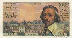 1000 Francs RICHELIEU FRANCE  1955 F.42.15 SPL+