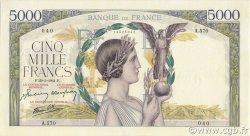 5000 Francs VICTOIRE Impression à plat FRANCE  1941 F.46.22 SPL