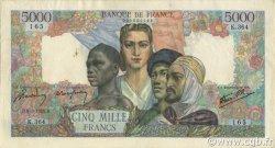 5000 Francs EMPIRE FRANÇAIS FRANCE  1945 F.47.16 SUP