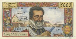 5000 Francs HENRI IV FRANCE  1958 F.49.05 SPL