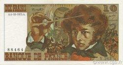 10 Francs BERLIOZ FRANCE  1975 F.63.15 SUP à SPL