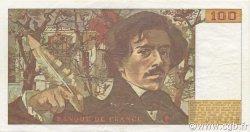 100 Francs DELACROIX modifié FRANCE  1989 F.69.13d TTB+