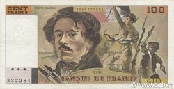 100 Francs DELACROIX imprimé en continu FRANCE  1990 F.69bis.01b3 TTB+