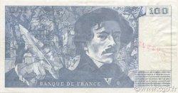 100 Francs DELACROIX 442-1 & 442-2 FRANCE  1994 F.69ter.01b SUP