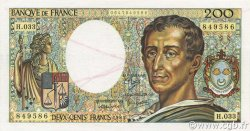 200 Francs MONTESQUIEU UNIFACE FRANCE  1986 F.70U.02 pr.NEUF