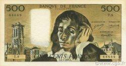 500 Francs PASCAL FRANCE  1969 F.71.03 SUP+