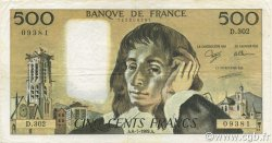 500 Francs PASCAL FRANCE  1989 F.71.42 TTB