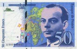 50 Francs SAINT-EXUPÉRY FRANCE  1992 F.72.01a pr.NEUF