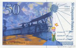 50 Francs SAINT-EXUPÉRY Modifié FRANCE  1994 F.73.01b NEUF